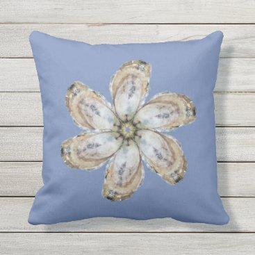 Beach Themed Oyster Flower Pillow - Designs A & C