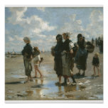 Oyster Gatherers at Cancale, John Singer Sargent Poster