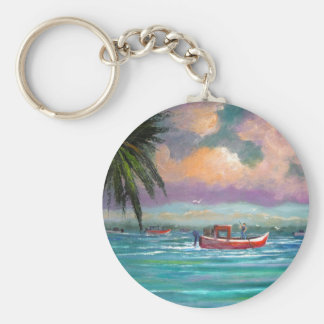 Oyster harvesting in Apalachicola Bay Keychain