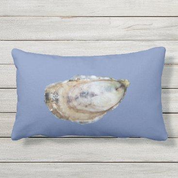 Beach Themed Oyster Lumbar Pillow - Designs A & C