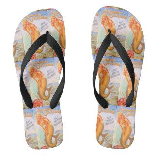 oyster mermaids flip flops