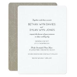 Oyster/Mink 'Tree' Wedding Invitation