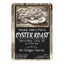 Oyster Roast Black and White All Purpose Invitation