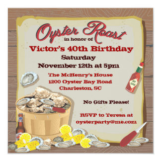 Oyster Roast Party Invitations