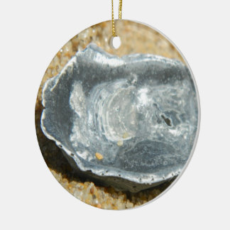 Oyster Shell in The Sand Christmas Ornament