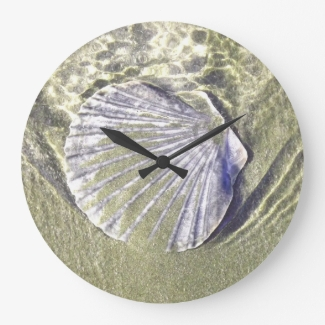 Oyster Shell Wall Clock