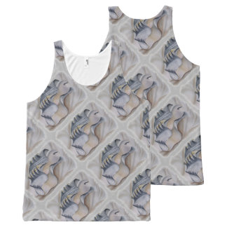 OYSTER SHELL WITH PEARL All-Over PRINT TANK TOP
