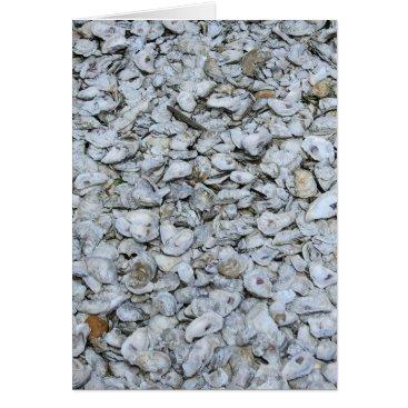 Beach Themed Oyster Shells Card