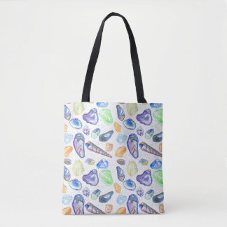 Oyster Shells Seashell Collection Drawing Tote Bag