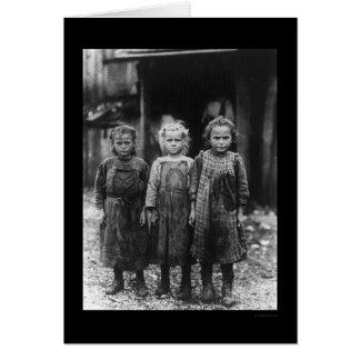 Oyster Shucker Girls 1910 Card