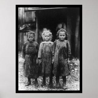 Oyster Shucker Girls 1910 Poster