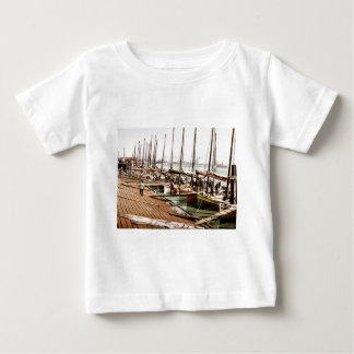 Oyster Smacks at the Levee New Orleans 1900 Baby T-Shirt