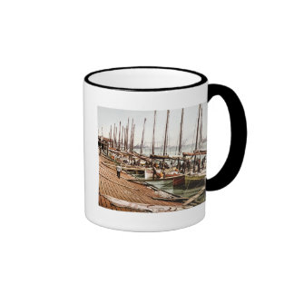 Oyster Smacks at the Levee New Orleans 1900 Ringer Coffee Mug