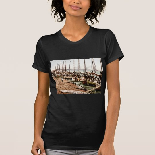 Oyster Smacks at the Levee New Orleans 1900 T-Shirt