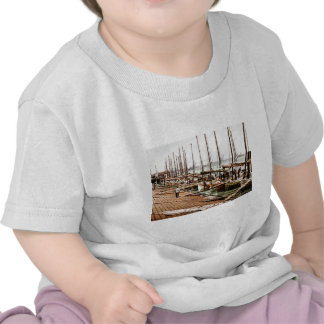 Oyster Smacks at the Levee New Orleans 1900 T Shirts
