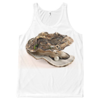 OYSTER WITH PEARL All-Over-Print TANK TOP