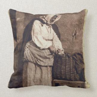 Oyster Woman 1843-47 salt paper print from calot Throw Pillows