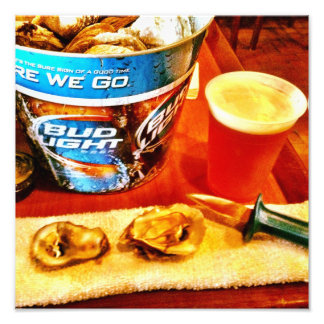 Oysters And Beer Photo Print
