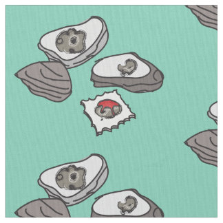 Oysters and Saltines Fabric