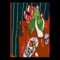 Oysters and Satsumas Fauvist Still Life posters