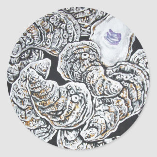 OYSTERS CLASSIC ROUND STICKER