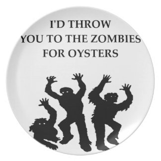 oysters dinner plate