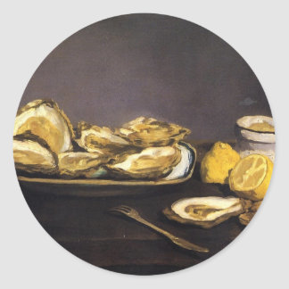 Oysters - Édouard Manet Classic Round Sticker