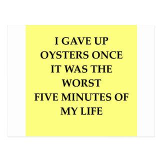 OYSTERS.jpg Postcard