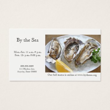 Professional Business Oysters on ice business card