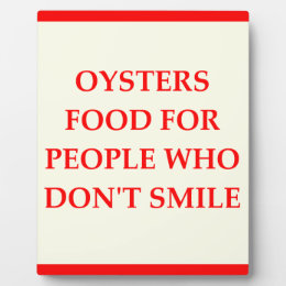 OYSTERS PLAQUE