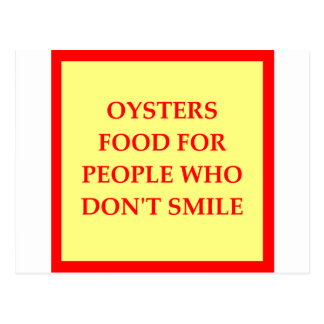 OYSTERS POSTCARD