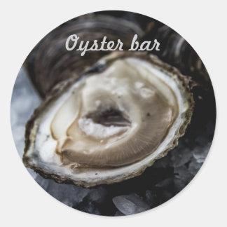 Oysters stick classic round sticker