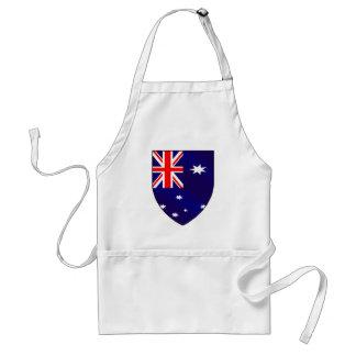 Oz Australia flag badge Barbeque Apron