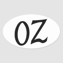 Oz Black Sticker