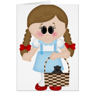 oz dorothy and toto card