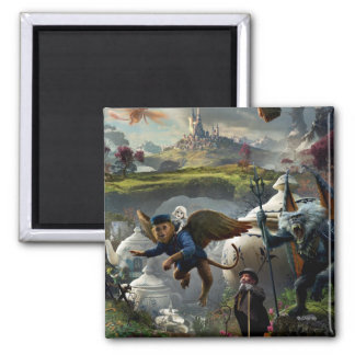 Oz: The Great and Powerful Poster 5 2 Inch Square Magnet