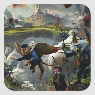 Oz: The Great and Powerful Poster 5 Square Sticker