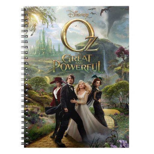 Oz: The Great and Powerful Poster 6 Spiral Notebook