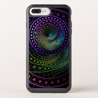 Oz the Great with Technicolor Fractal Rainbow Speck iPhone Case