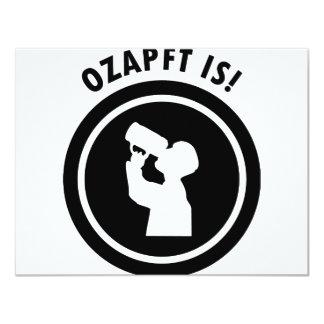 ozapftis bavarian Oktoberfest symbol Personalized Invite