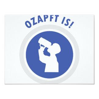 ozapftis Oktoberfest bavarian icon Card