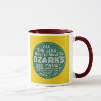 Ozark Mountains Vintage Travel Label Design Mug