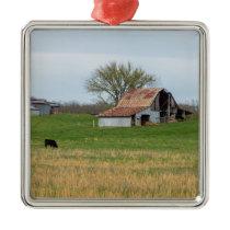 Ozark Old Farm Metal Ornament