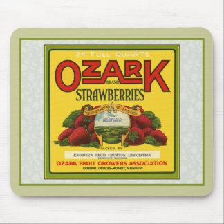 Ozark Strawberries Mouse Pad