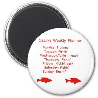 Ozarks Weekly Planner 2 Inch Round Magnet
