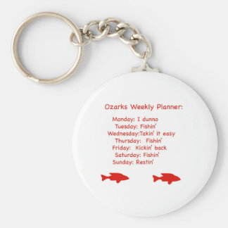 Ozarks Weekly Planner Basic Round Button Keychain