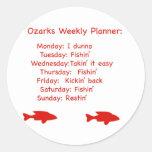 Ozarks Weekly Planner Round Sticker