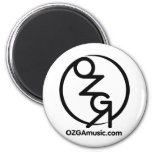 OZGA Web Logo - Black Fridge Magnets