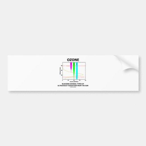 Ozone Blocking Several Types Of Ultraviolet Car Bumper Sticker