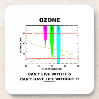Ozone Can't Live With It Can't Have Life Without Drink Coasters